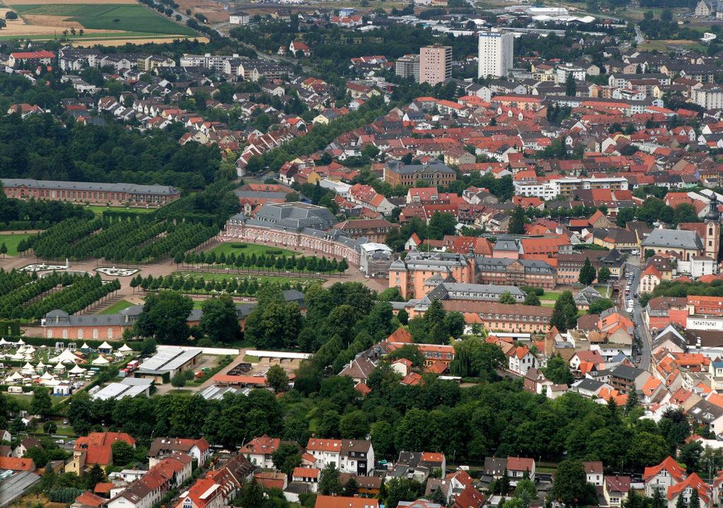 Luftaufnahme von Schwetzingen